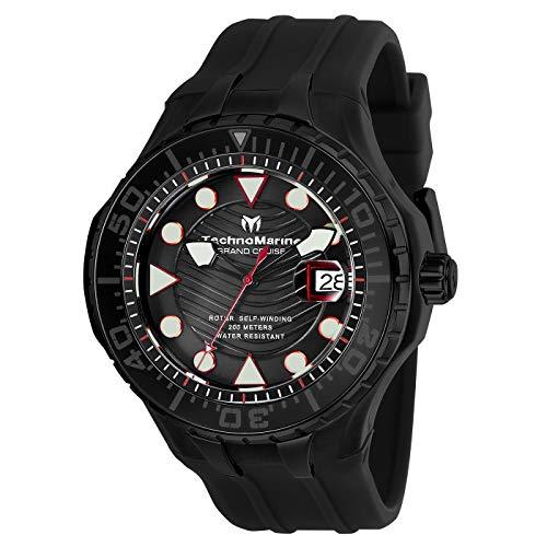 テクノマリーン 腕時計 メンズ 【送料無料】Technomarine Grand Cruise Automatic Black Dial Men's Watch TM-118083テクノマリーン 腕時計 メンズ
