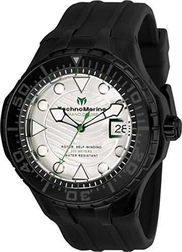 テクノマリーン 腕時計 メンズ 【送料無料】Technomarine TM-118085 Cruise Men's 48mm Automatic Black-Tone Steel White Dialテクノマリーン 腕時計 メンズ