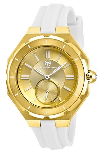 テクノマリーン 腕時計 レディース 【送料無料】Technomarine Women's Cruise Stainless Steel Quartz Watch with Silicone Strap, White, 17 (Model: TM-118005)テクノマリーン 腕時計 レディース