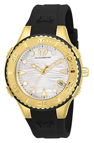 腕時計 テクノマリーン レディース 【送料無料】Technomarine Women's Cruise Stainless Steel Quartz Watch with Silicone Strap, Black, 23 (Model: TM-118090)腕時計 テクノマリーン レディース