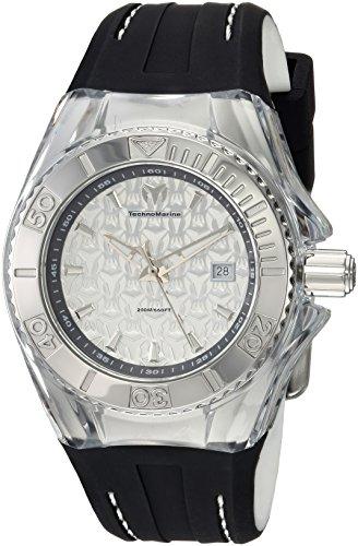 テクノマリーン 腕時計 レディース 【送料無料】Technomarine Women's Cruise Stainless Steel Quartz Watch with Silicone Strap, Grey, 24 (Model: TM-116003)テクノマリーン 腕時計 レディース