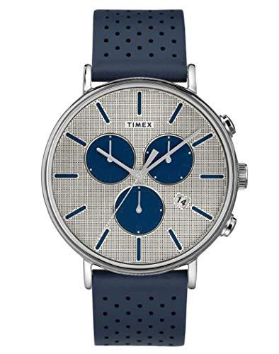 タイメックス 腕時計 メンズ 【送料無料】Timex Mens Chronograph Quartz Watch with Leather Strap TW2R97700タイメックス 腕時計 メンズ