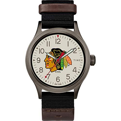 タイメックス 腕時計 メンズ 【送料無料】Timex Men's TWZHBLAMB NHL Clutch Chicago Blackhawks Watchタイメックス 腕時計 メンズ