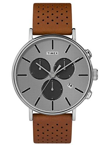 タイメックス 腕時計 メンズ 【送料無料】Timex Mens Chronograph Quartz Watch with Leather Strap TW2R79900タイメックス 腕時計 メンズ