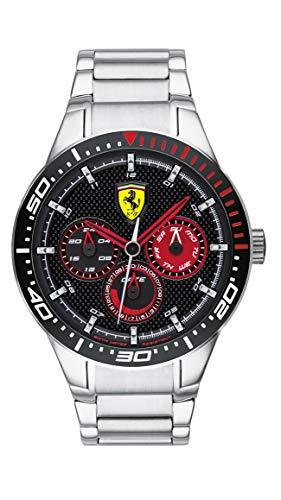 フェラーリ 腕時計 メンズ 【送料無料】Ferrari RedRev, Quartz Stainless Steel and Bracelet Casual Watch, Silver, Men, 830589フェラーリ 腕時計 メンズ