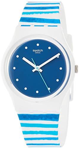 スウォッチ 腕時計 メンズ 【送料無料】Swatch Sea View GW193 Matte White Silicone Quartz Fashion Watchスウォッチ 腕時計 メンズ