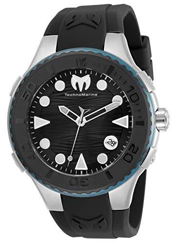 テクノマリーン 腕時計 メンズ 【送料無料】Technomarine Men's Cruise Freedom Stainless Steel Quartz Watch with Silicone Strap, Black, 26 (Model: TM-118097)テクノマリーン 腕時計 メンズ