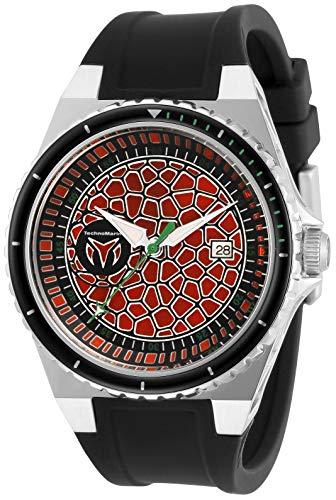 テクノマリーン 腕時計 メンズ 【送料無料】Technomarine Men's Technocell Stainless Steel Quartz Watch with Silicone Strap, Black, 26 (Model: TM-318054)テクノマリーン 腕時計 メンズ