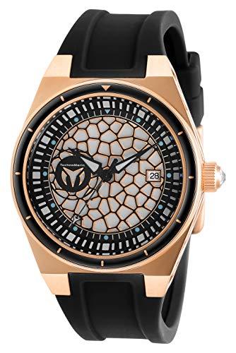 テクノマリーン 腕時計 レディース 【送料無料】Technomarine Women's Technocell Stainless Steel Quartz Watch with Silicone Strap, Black, 22 (Model: TM-318084)テクノマリーン 腕時計 レディース
