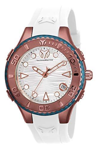 腕時計 テクノマリーン レディース 【送料無料】Technomarine Women's Cruise Stainless Steel Quartz Watch with Silicone Strap, White, 23 (Model: TM-118094)腕時計 テクノマリーン レディース