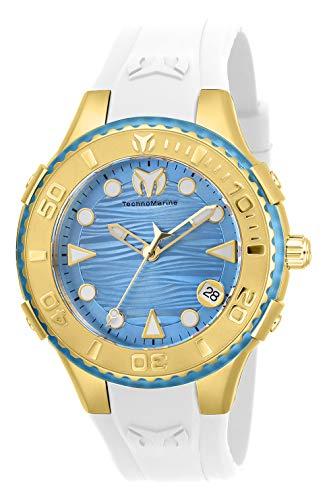 腕時計 テクノマリーン レディース 【送料無料】Technomarine Women's Cruise Stainless Steel Quartz Watch with Silicone Strap, White, 23 (Model: TM-118091)腕時計 テクノマリーン レディース