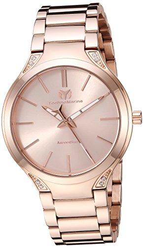 テクノマリーン 腕時計 レディース 【送料無料】Technomarine Women's MoonSun Quartz Watch with Stainless-Steel Strap, Rose Gold, 20 (Model: TM-117034)テクノマリーン 腕時計 レディース