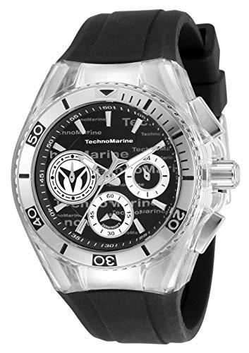 テクノマリーン 腕時計 レディース 【送料無料】Technomarine Women's Cruise California Stainless Steel Quartz Watch with Silicone Strap, Black, 26.25 (Model: TM-118129)テクノマリーン 腕時計 レディース