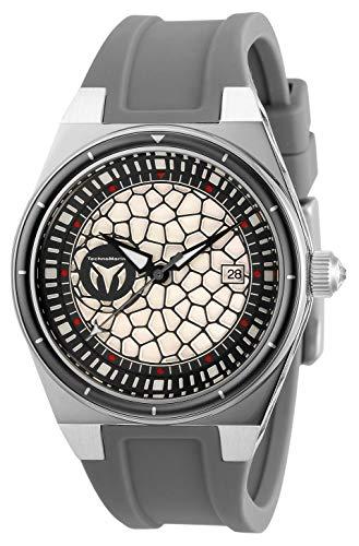 テクノマリーン 腕時計 レディース 【送料無料】Technomarine Women's Technocell Stainless Steel Quartz Watch with Silicone Strap, Grey, 22 (Model: TM-318076)テクノマリーン 腕時計 レディース