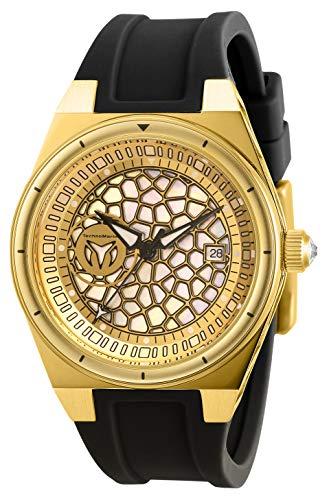 テクノマリーン 腕時計 レディース 【送料無料】Technomarine Women's Technocell Stainless Steel Quartz Watch with Silicone Strap, Black, 22 (Model: TM-318079)テクノマリーン 腕時計 レディース