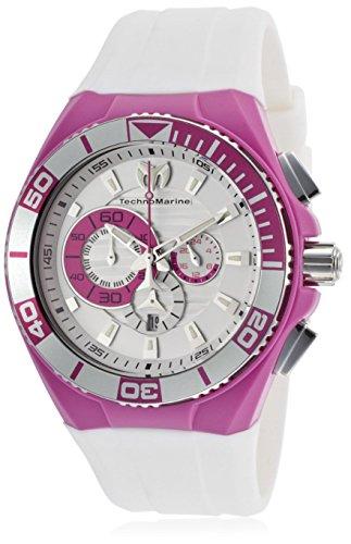 テクノマリーン 腕時計 レディース 【送料無料】Technomarine Women's 112014 Cruise White/Silver Tone Silicone Watchテクノマリーン 腕時計 レディース