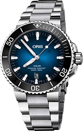 オリス 腕時計 メンズ 【送料無料】Oris Aquis Automatic Blue Dial Mens Watch 01 733 7730 4185-Set MBオリス 腕時計 メンズ