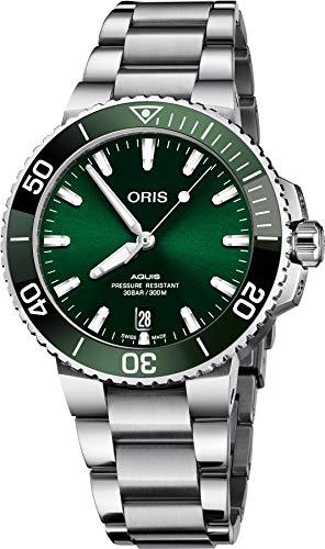 """オリス 腕時計 メンズ 【送料無料】Oris Aquis Date Automatic Green Dial Men""""s Watch 01 733 7732 4157-07 8 21 05PEBオリス 腕時計 メンズ"""