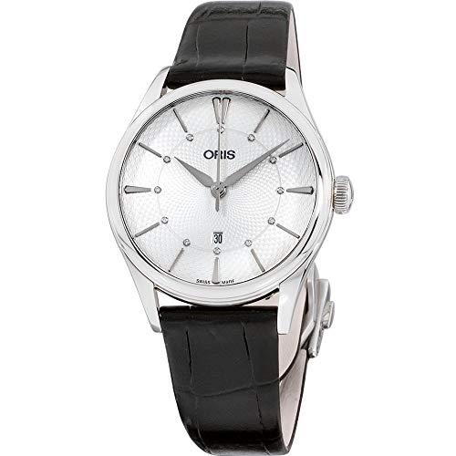 オリス 腕時計 メンズ 【送料無料】Oris Artelier Silver Dial Leather Strap Ladies Watch 56177244051LSBLKオリス 腕時計 メンズ