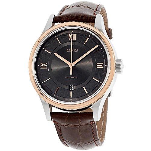 無料ラッピングでプレゼントや贈り物にも 逆輸入並行輸入送料込 腕時計 オリス メンズ 送料無料 Oris 春の新作シューズ満載 Grey 日本正規代理店品 Brown腕時計 Date Classic
