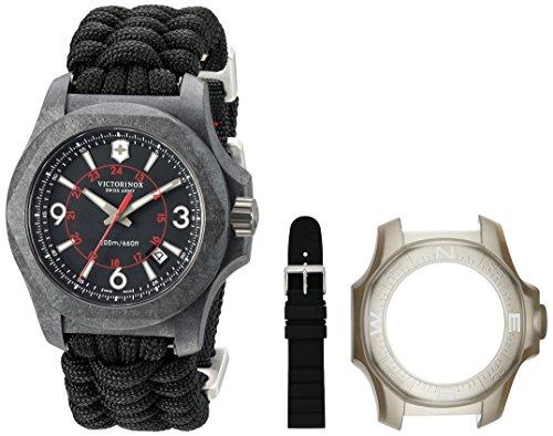 ビクトリノックス スイス 腕時計 メンズ 【送料無料】Victorinox Swiss Army Men's I.N.O.X. Titanium Swiss-Quartz Watch with Nylon Strap, Black, 24 (Model: 241776)ビクトリノックス スイス 腕時計 メンズ