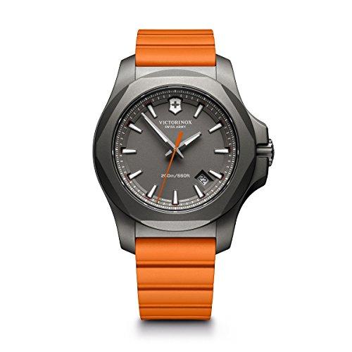 ビクトリノックス スイス 腕時計 メンズ 【送料無料】Victorinox I.N.O.X. Titanium Swiss-Quartz Watch with Rubber Strap, Orange, 21 (Model: 241758)ビクトリノックス スイス 腕時計 メンズ