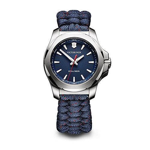 ビクトリノックス スイス 腕時計 レディース,ウィメンズ Victorinox Swiss Army Women's I.N.O.X. Stainless Steel Swiss-Quartz Watch with Nylon Strap, Blue, 18 (Model: 241770)ビクトリノックス スイス 腕時計 レディース,ウィメンズ
