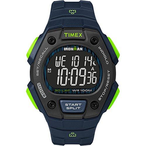 タイメックス 腕時計 メンズ 【送料無料】Timex Men's TW5M18800 Ironman Classic 30 Blue/Lime/Negative Resin Strap Watchタイメックス 腕時計 メンズ