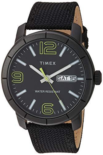 タイメックス 腕時計 メンズ 【送料無料】Timex Men's TW2T72500 Mod 44 Black/Green Fabric Strap Watchタイメックス 腕時計 メンズ