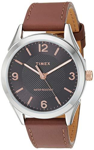 タイメックス 腕時計 メンズ 【送料無料】Timex Men's TW2T66800 Briarwood 40mm Brown/Black Genuine Leather Strap Watchタイメックス 腕時計 メンズ