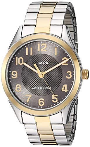 腕時計 タイメックス メンズ 【送料無料】Timex Men's TW2T45900 Briarwood 40mm Two-Tone/Black Stainless Steel Expansion Band Watch腕時計 タイメックス メンズ