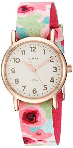 タイメックス 腕時計 レディース 【送料無料】Timex Women's TW2T31300 Weekender 31mm Pink Floral/Rose Gold-Tone Fabric Slip-Thru Strap Watchタイメックス 腕時計 レディース