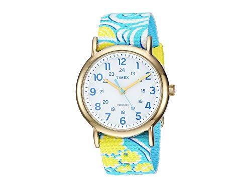 タイメックス 腕時計 レディース 【送料無料】Timex Style Weekender Slip-Thru White/Turquoise One Sizeタイメックス 腕時計 レディース