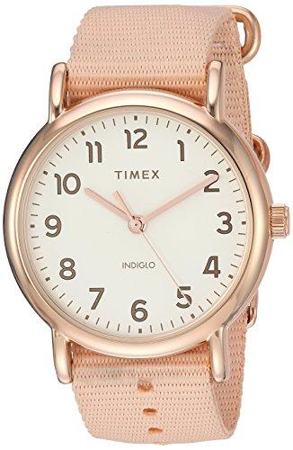 タイメックス 腕時計 レディース 【送料無料】Timex Women's TW2R59600 Weekender 38mm Pink/Rose Gold-Tone Nylon Slip-Thru Strap Watchタイメックス 腕時計 レディース