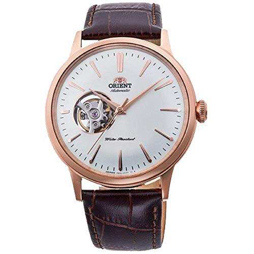 オリエント 腕時計 メンズ 【送料無料】Orient Men's Bambino Open Heart Stainless Steel Japanese-Automatic Watch with Leather Strap, Brown, 20 (Model: RA-AG0001S10A)オリエント 腕時計 メンズ