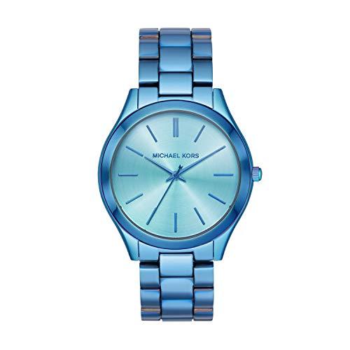 マイケルコース 腕時計 レディース 母の日特集 マイケル・コース 【送料無料】Michael Kors Women's Slim Runway Quartz Watch with Stainless Steel Strap, Blue, 20 (Model: MK4390)マイケルコース 腕時計 レディース 母の日特集 マイケル・コース