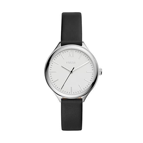 フォッシル 腕時計 レディース 【送料無料】Fossil Women's Suitor Quartz Metal and Leather Dress Watch, Color: Silver, Black (Model: BQ8000)フォッシル 腕時計 レディース