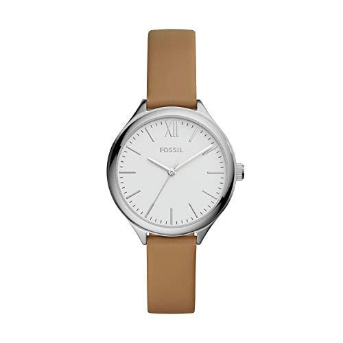 フォッシル 腕時計 レディース 【送料無料】Fossil Women's Suitor Quartz Metal and Leather Dress Watch, Color: Silver, Brown (Model: BQ8004)フォッシル 腕時計 レディース
