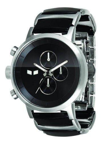 ベスタル ヴェスタル 腕時計 メンズ 【送料無料】Vestal Men's METCA Metronome Silver With Black Acetate Chronograph Watchベスタル ヴェスタル 腕時計 メンズ