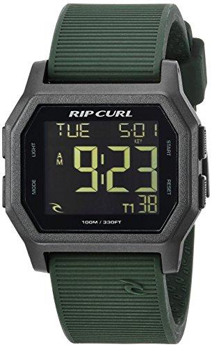 リップカール 腕時計 メンズ サーファー サーフィン 【送料無料】Rip Curl Men's Atom Quartz Sport Watch with Silicone Strap, Green, 24 (Model: A2701-MIL)リップカール 腕時計 メンズ サーファー サーフィン