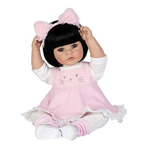アドラベビードール 赤ちゃん リアル 本物そっくり おままごと 【送料無料】Adora ToddlerTime Kitty Kat Doll with Corduroy Dress and Furry Pink Kitty Headbandアドラベビードール 赤ちゃん リアル 本物そっくり おままごと