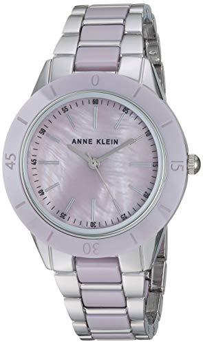 アンクライン 腕時計 レディース 【送料無料】Anne Klein Women's AK/3161LVSV Silver-Tone and Lavender Bracelet Watchアンクライン 腕時計 レディース