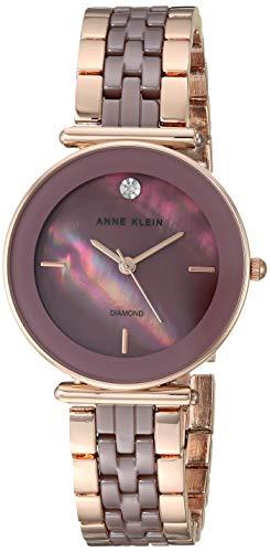 腕時計 アンクライン レディース 【送料無料】Anne Klein Women's AK/3158MVRG Diamond-Accented Rose Gold-Tone and Mauve Bracelet Watch腕時計 アンクライン レディース