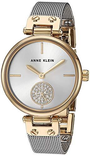 アンクライン 腕時計 レディース 【送料無料】Anne Klein Women's AK/3001SVTT Swarovski Crystal Accented Two-Tone Mesh Bracelet Watchアンクライン 腕時計 レディース