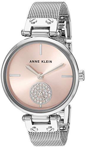 アンクライン 腕時計 レディース 【送料無料】Anne Klein Women's Swarovski Crystal Accented Silver-Tone Mesh Bracelet Watch, AK/3001LPSVアンクライン 腕時計 レディース