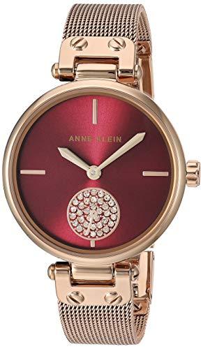アンクライン 腕時計 レディース 【送料無料】Anne Klein Women's Swarovski Crystal Accented Rose Gold-Tone Mesh Bracelet Watch, AK/3000BYRGアンクライン 腕時計 レディース