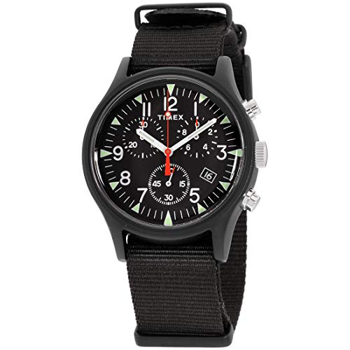タイメックス 腕時計 メンズ 【送料無料】Timex Men's MK1 Aluminum Chronograph 40mm Analog Quartz Nylon Strap, Black, 20 Casual Watch (Model: TW2R67700VQ)タイメックス 腕時計 メンズ