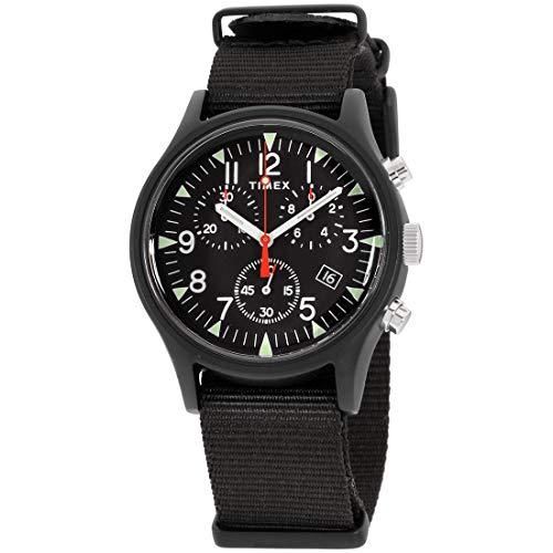 タイメックス 腕時計 メンズ 【送料無料】Timex Men's MK1 Aluminum Chronograph 40mm Analog Quartz Nylon Strap, Black, 20 Casual Watch (Model: TW2R67700VQ)タイメックス 腕時計 メンズ