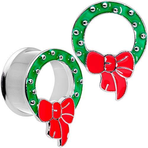 <title>無料ラッピングでプレゼントや贈り物にも 逆輸入並行輸入送料込 ボディキャンディー 価格 交渉 送料無料 ボディピアス アメリカ 日本未発売 ウォレット 送料無料 Body Candy 2Pc 316L Steel Double Flare Tunnel Plug Christmas Wreath Ear Gauges Set of 2 3 4