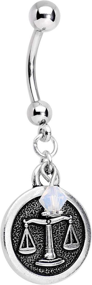 ボディキャンディー ボディピアス アメリカ 日本未発売 ウォレット Body Candy Handcrafted Steel Zodiac Libra Dangle Belly Ring Created with Swarovski Crystalsボディキャンディー ボディピアス アメリカ 日本未発売 ウォレット